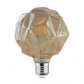 Bec decorativ LED COG 6W rustic Crystal-6 E27 HOROZ