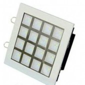 Spot incastrat led alb crom 9W LED'OR