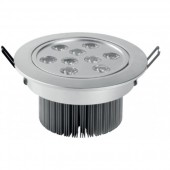 Spot incastrat led aluminiu 9W LED'OR